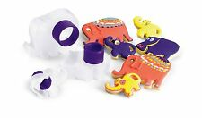 Cuisipro Snap Fit Cookie Cutters 3 Shapes Set nest Baking - ANIMALS