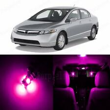 8 x Pink LED Lights Interior Package For Honda CIVIC 2006 - 2012 Coupe Sedan