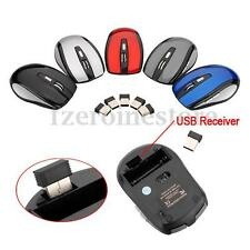 2.4G Receptor USB Wireless Inalámbrico Mouse Ratón óptico Portátil PC Sin Cable