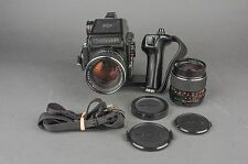 Mamiya M645 1000S Medium Format Camera w/ Sekor C 55mm f/2.8 & 80mm f/1.9 Lens