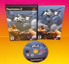 K-1 World Grand Prix Playstation 2 PS2 Rare Game Complete - Tested 1-2 Players