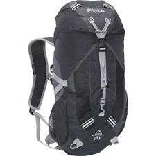Jansport Katahdin 20L Daypack Travel Hiking Camping Black Grey Backpack NWT