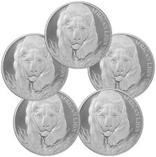 2017 Republic of Chad 1 oz. Silver African Lion - Lot of 5 Coins SKU43308