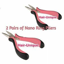 "Professional Hair Extensions Pliers 5"" x 2 for Nano Rings UK Stock Free Postage"
