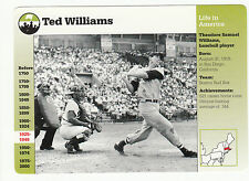 "Ted Williams 1996 Grolier ""Life in America"" Card 45-12 Boston Red Sox"