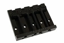 NEW Omega Badass Bass Style BRIDGE for Fender P Jazz Bass GROOVED SADDLES Black