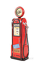 "Gas Pump Vintage Antique Reproduction Metal Model 21"" w/ Clock Automotive Decor"