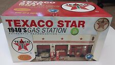 NEW TEXACO STAR 1940'S Gas Station Authentic Reproduction In 1:43 Scale Model