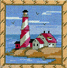 Dimensions  7177   Phare  Kit  Canevas  au  Petit Point