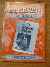 Apr-2003 Programme Monthly & Collectable: The Voice Of 'Football Programme' Coll