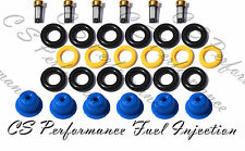 V6 3.0 Ford Fuel Injector Repair Service Kit Seals Filters Pintle Caps CSKBO16