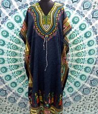 FREE SHIP Boho African Grey Kimono Kaftan Dress~Beach Cover-up Caftan Free Size