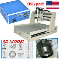 Mach3 USB 3040 CNC 4AXIS Engraver 400W Router 3D Milling Cutter Machine Desktop