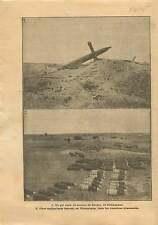 WWI Ruines Moulin de Souain-Perthes-lès-Hurlus Champagne Obus 1915 ILLUSTRATION