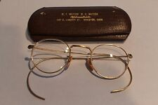 Vintage 1920s FulVue Ful-Vue 12K Gold Filled Eyeglasses Glasses w / Case