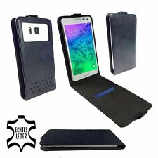 Genuine Leather Wallet Case For Firefly Mobile GT100s - FLIP Black M