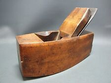 Wooden beech compass smoothing plane vintage old tool by Ward & Payne