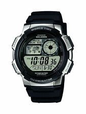 Casio Digital Stopwatch World Time 100m Water Resistant Watch AE-1000W-1A2VEF