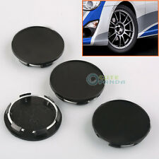 4Pcs New 50mm Black Car Wheels Center Blank Cap Hubcap Covers No Logo Universal