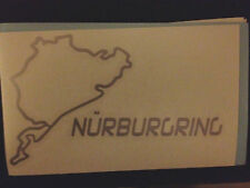 """Nurburgring Decal Sticker BMW VW Audi Benz Racing 3.36"""" h x 5.5"""" w - Any Color"""