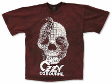 "OZZY OSBOURNE ""SKULL RING"" MAROON & BLACK TIE DYE T-SHIRT NEW OFFICIAL ADULT XL"