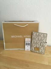 MICHAEL KORS JET SET VANILLA SIGNATURE PVC PASSPORT CASE ~ NEW WITH TAGS!