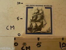 STICKER,DECAL HELDERS MARINE MUSEUM ZEILSCHIP