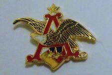 Anheiser Busch Hat Pin Ale Lapel Pin Clutch Back Beer 1-1/8 inch Eagle
