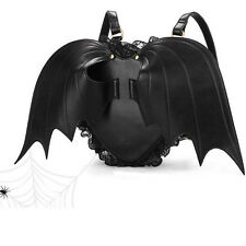 Fashion Black Bat Heart wings bag Backpack goth punk lace lolita Gothi Hot