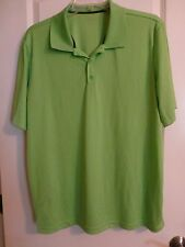bcg Athletic Collar Shirt Loose Fit Neon Green SS Golf Polo Shirt Size XL