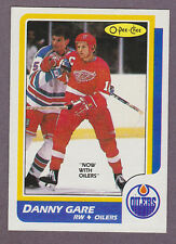 1986-87 OPC Hockey Danny Gare #69 Edmonton Oilers Detroit Red Wings NM/MT