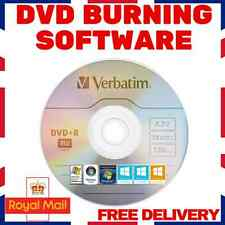 DVD CD COPY BURNING SOFTWARE- BURNER PROGRAM - WINDOWS (XP,VISTA,7,8,8.1,10)
