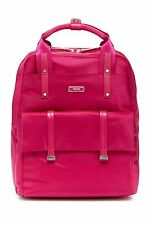 NWT Tumi Epsom Backpack BERRY Nylon Leather Travel Laptop Bag