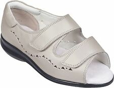 Cosyfeet Extra Roomy Relax Womens Sandal Shoes Ivory Pearl UK 3.5 EEEEE+ Fitting