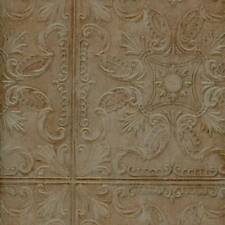Wallpaper Old Fashion Classic Tin Ceiling Tile Look Faux Verdigris Green Copper