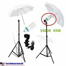 Studio Photography Lighting Kit 3 Point Lighting Umbrella Photo Bulb Lamp V