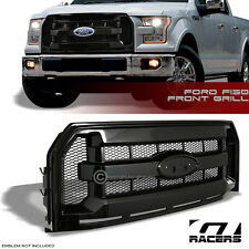 FOR 2015-2016 FORD F150 GLOSSY BLK OE SPORT MESH FRONT BUMPER GRILL GRILLE COVER