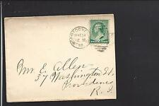 WOONSOCKET, RHODE ISLAND COVER,1777,#213,  PROVIDENCE CO. 1874/OP.
