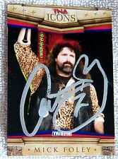 WWE / TNA Superstar Mick Foley Signed 2010 TNA Icons Card Auto