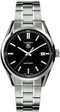 VALENTINE'S DAY SALE TAG HEUER CARRERA WV211B.BA0787 AUTO MENS BLACK SWISS WATCH
