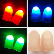 2xParty Halloween Magic Light Up Two Thumb Finger Trick Appearing Light Close Up