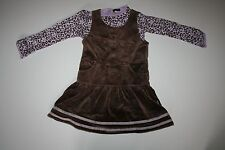 New Rabbit Moon Soft Velour Jumper Dress & Top Set 4T NWT Leopard Long Sleeve