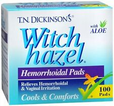Dickinson's Witch Hazel Hemorrhoidal Pads 100 Each
