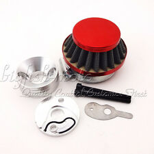 Red 44mm Air Filter Adapter Velocity Stack 33cc 43cc 49cc Big Foot Gas Scooter