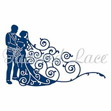 BRIDE & GROOM 2016 High Quality Steel Die TATTERED LACE - New, D1385