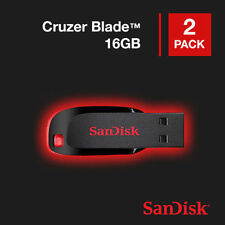 Lot of 2 Sandisk Cruzer Blade 16GB USB 2.0 Memory Flash Drive SDCZ50-016G Pack