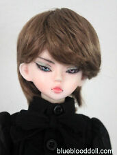 "1/4 1/6 bjd 6-7"" head synthetic mohair brown doll wig dollfie luts iplehouse"