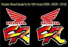 Radiator Shroud Decals for 1991 Honda CR500 CR250 CR125 dirtbikes