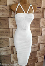 Sexy Cream Bodycon Wiggle Holiday Cocktail Party  Dress Size 8
