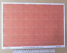"OO/HO gauge (1:76 scale) ""red-orange brick""  paper - A4 sheet"